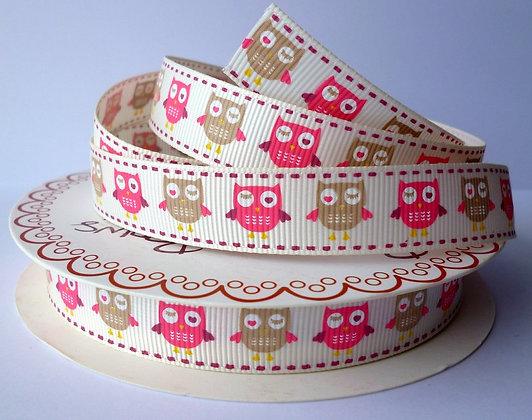 Bertie Bows Ribbon :: Sleepy Owl