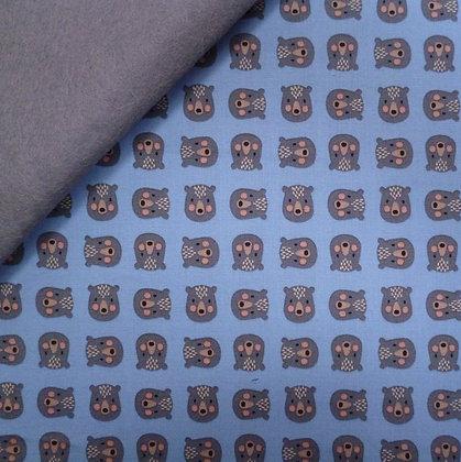 Fabric Felt :: Minis :: Bears on Grey
