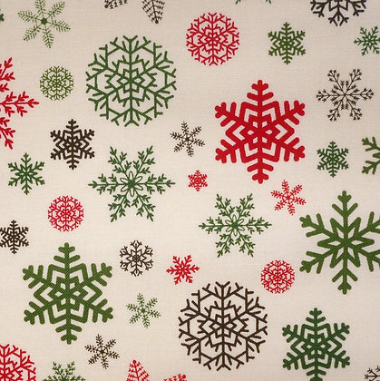 SALE Fabric :: Christmas Delivery :: Snowflakes