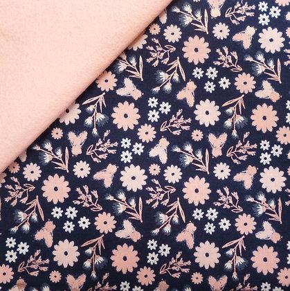 Fabric Felt :: Blush :: Navy & Floral on Blush LAST FEW
