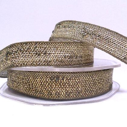 Woven Metallic Ribbon :: Moss & Gold