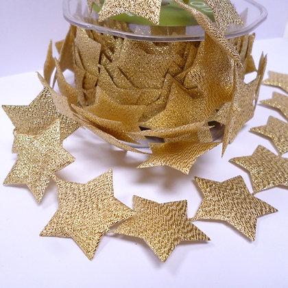 Cut Out Ribbon :: Large Gold Stars(per half metre)