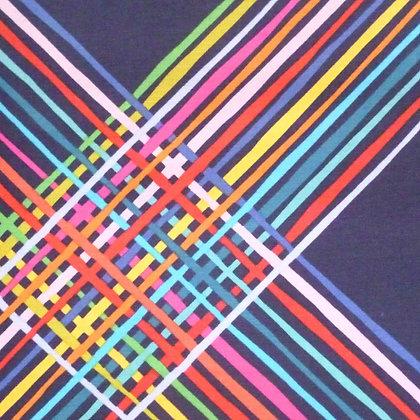 Fabric :: Happy! :: Rainbow Lines