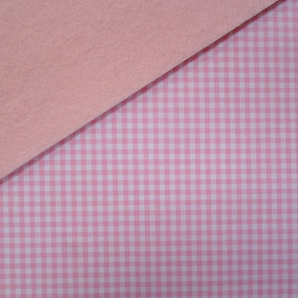 Fabric Felt :: Wide Pale Pink Gingham on Blush