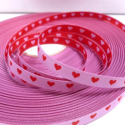 Embroidered Ribbon :: Double Sided Hearts