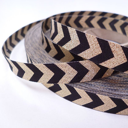 Embroidered Ribbon :: Gold Chevron