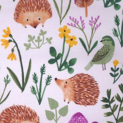 FQ SALE Fabric :: Woodland Wander :: Hedgehogs FAT QUARTER