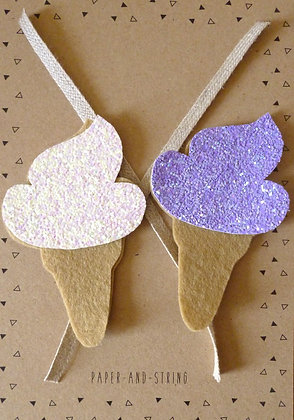 Glitter Ice Cream WHITE & LILAC Ingredients Pack