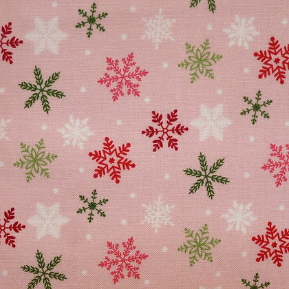 SALE Fabric :: Merry/Bright :: Pink Snowflake