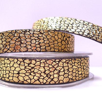 15mm Snake Skin effect ribbon :: Gold