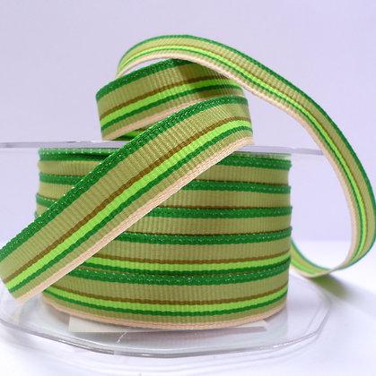 """1/2"""" Stripe Ribbon :: Green"""