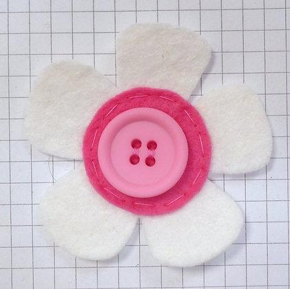 Natural :: Med Flower :: Handmade Embellishment