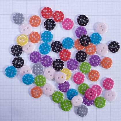 Mixed Button Bags :: Small Printed Polka Dots