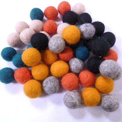2cm Felt Ball Packs :: Modern Mix (48x 2cm balls)