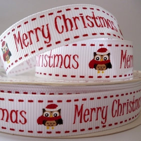 Bertie Bows Ribbon :: Owl Merry Christmas