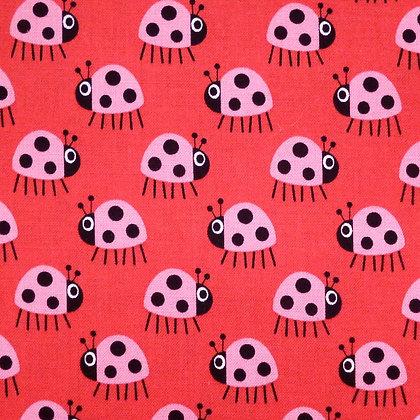 Fabric :: Copenhagen :: The Ladybugs (red)