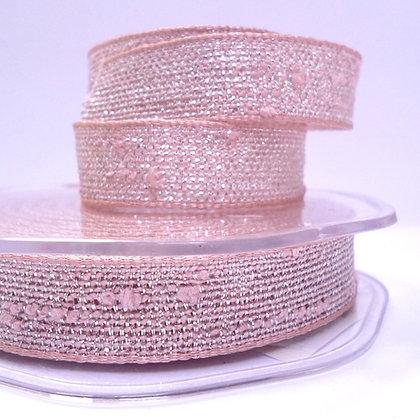 Woven Metallic Ribbon :: Pink & Silver