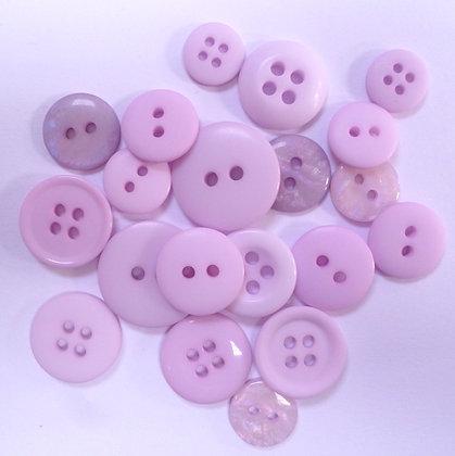 Dyed Pick & Mix Buttons :: Mauve
