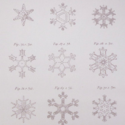 SALE Fabric :: Little Town :: Snow Crystals Frosty