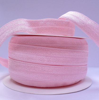 Satin Sheen Fold Over Elastic :: Baby Pink