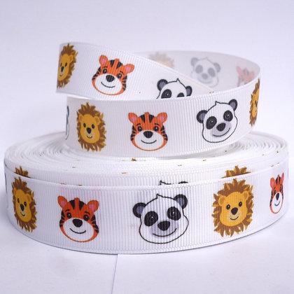 Cute Grosgrain Ribbon :: Lion/Tiger/Panda