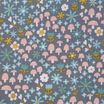 Fabric :: Goldilocks :: Teal Toadstools