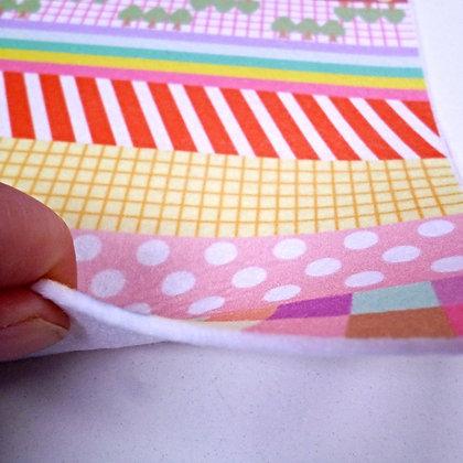 3mm THICK printed felt :: Washi Tape