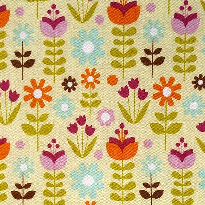 Fabric :: Matroyshka :: Green Leaves