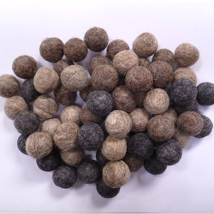 2cm Bumper Felt Ball Packs :: Neutrals (64 x 2cm balls)