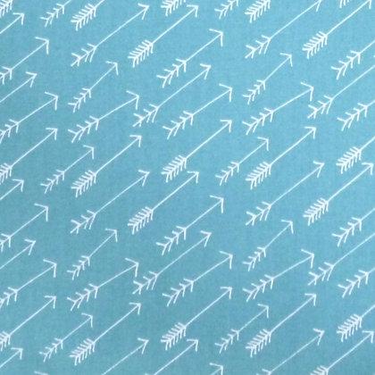 Fabric Felt :: Teal + Arrows  on Natural LAST FEW