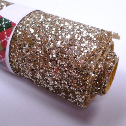 Glitter Remnant Roll :: Chunky :: GOLD (A) 9cm x 100cm