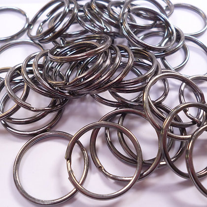 Black Metal Key Rings :: pack of 20