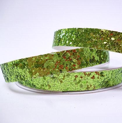 Chunky Glitter Ribbon Spool :: Green