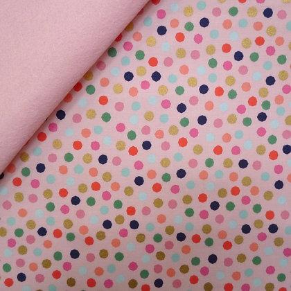 Fabric Felt :: On Trend :: Dots (on blush)  on Blush
