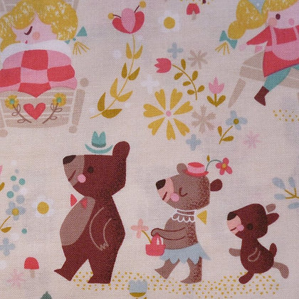 Fabric :: Goldilocks :: Cream The Three Bears