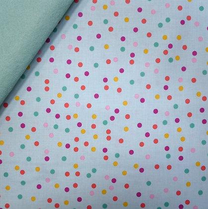 Fabric Felt :: Enchanted :: Mint Dots on Pale Mint