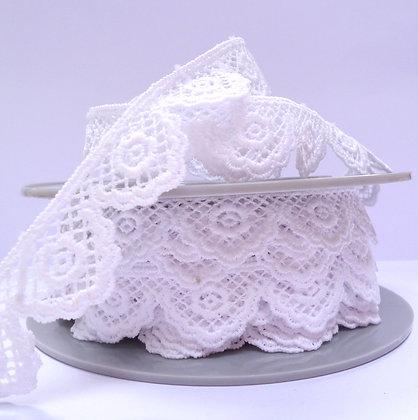 Guipure Lace :: White