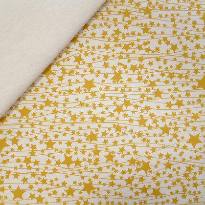 Fabric Felt :: Little Town :: Twinkle Stars on Natural