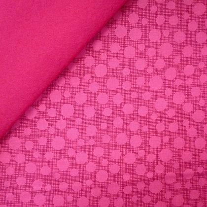 Fabric Felt :: Hash Tag Dot Fuchsia on Fuchsia