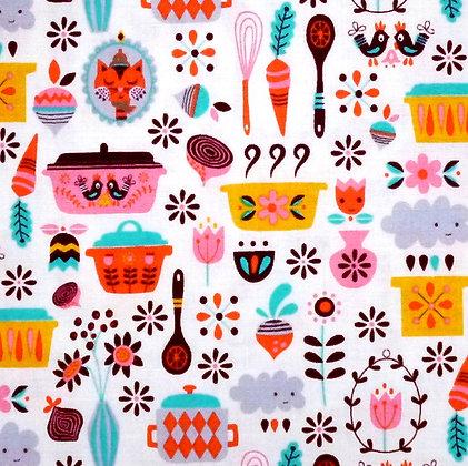 Fabric :: Vintage Kitchen :: Multi Main