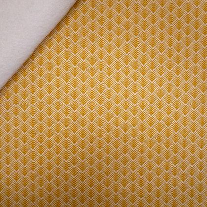 Fabric Felt :: Golden Days :: Mustard Feather Chevron on Natural