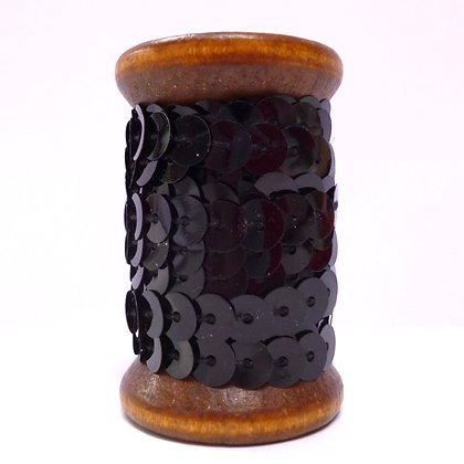 Sequins On A Wooden Spool :: Black