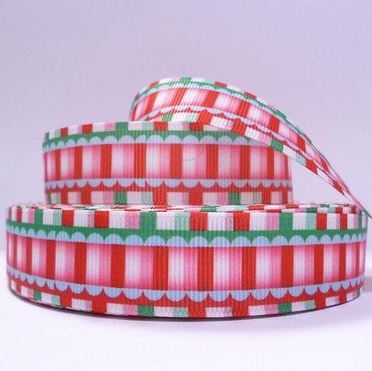 Christmas Grosgrain Ribbon :: Stripes & Scallops