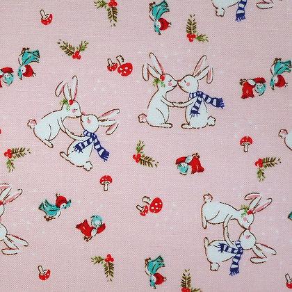 SALE Fabric :: Pixie Noel :: Cute Bunnies