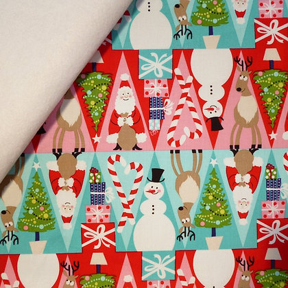 Fabric Felt :: Holiday :: Triangle Rows on White