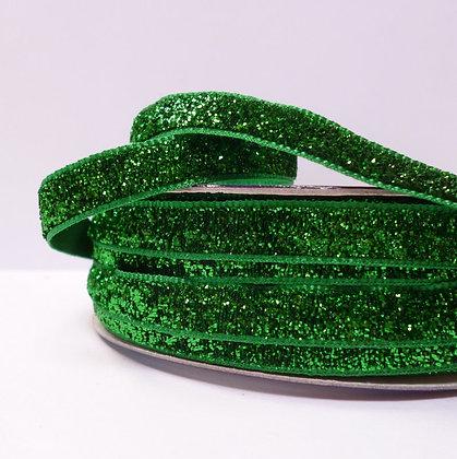 10mm LUXURY Glitter Velvet Ribbon :: Green