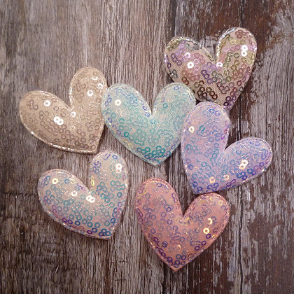Padded Heart :: Pastel Sequin