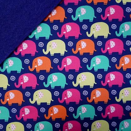 Fabric Felt :: Navy Elephants on Navy