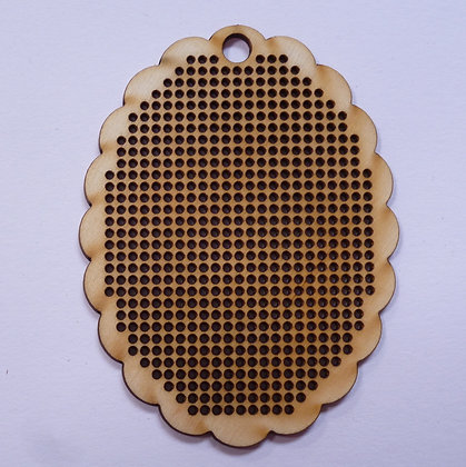 Stitchables :: Wood :: Scallop Oval