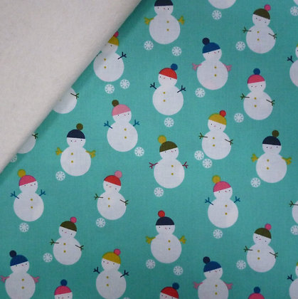 Fabric Felt :: Merry and Bright :: Snowmen on Natural